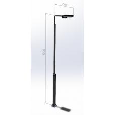 Ліхтарі для вуличного освітлення з круглої труби (з LED-матрицею) Dimol