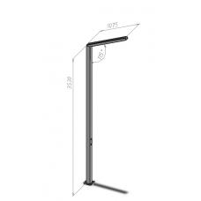 Ліхтарі для вуличного освітлення Г-подібні (з LED-матрицею) Dimol